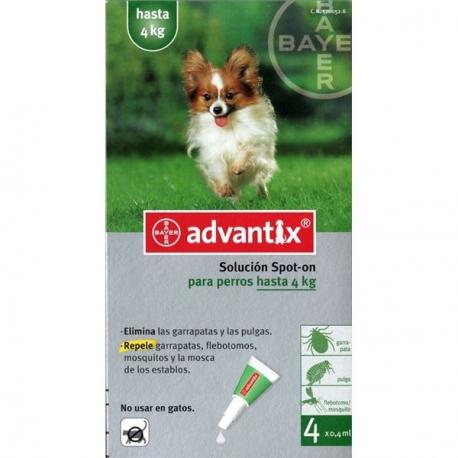 Pipetas advantix para perro peque o hasta 4 kg - Pipeta advantix despues bano ...
