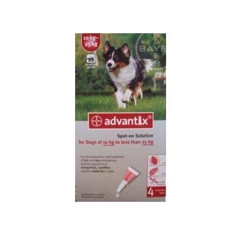 Pipetas advantix para perro de 10 a 25kg - Pipeta advantix despues bano ...